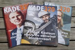 4 x per jaar mag Elise Design het magazine KADE320 opmaken voor de binnenvaart