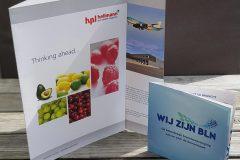 Verschillende brochures ontworpen